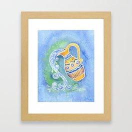 Zodiac Collection: Aquarius Framed Art Print