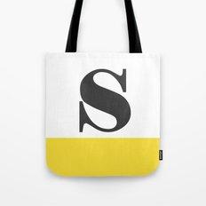 Monogram Letter S-Pantone-Buttercup Tote Bag