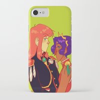 utena iPhone & iPod Cases featuring all men are pigs by Cori Walters