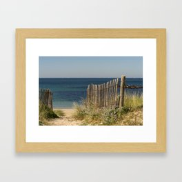 Path to beach Framed Art Print