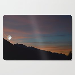 Sunset in the Alps Cutting Board