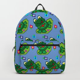 Blue Lily Frog  Backpack