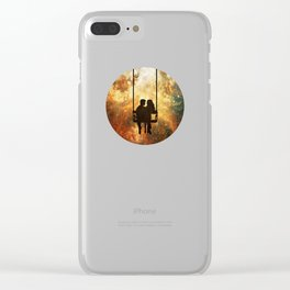 Love at the End of the Universe Clear iPhone Case