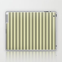 Large French Cream Mattress Ticking Black Double Stripes Laptop & iPad Skin