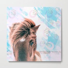 Horse horseshoes Metal Print