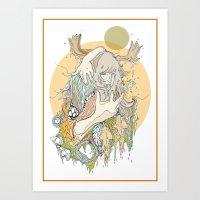 moss Art Prints featuring moss by Cassidy Rae Marietta