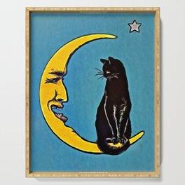 Black Cat & Moon Serving Tray