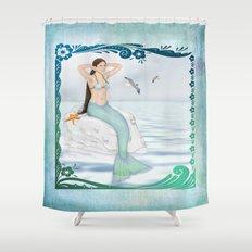Seaside Mermaid Shower Curtain