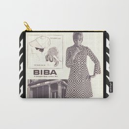 1970s Fashion - A Page from Biba Newspaper Carry-All Pouch