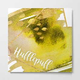 Hufflepuff Yellow Metal Print