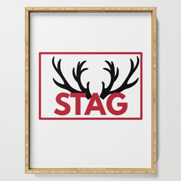 Stag Party Bachelor Party Serving Tray