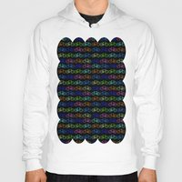 bicycles Hoodies featuring Colorful Bicycles DARK by MICHELLE MURPHY