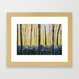Good Luck Series: Sunny Forest Abstract Framed Art Print