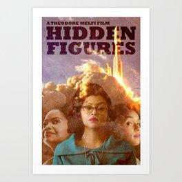Hidden Figures - Alternate Poster 2017 Art Print