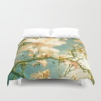 magnolia Duvet Covers featuring Magnolia by Cassia Beck