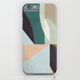 shapes geometric art mid century iPhone Case