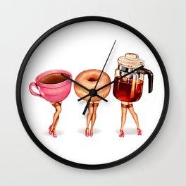 Coffee Pin-Ups Wall Clock