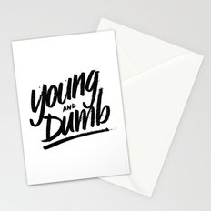 young & dumb Stationery Cards