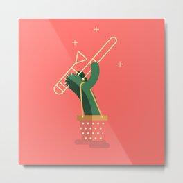 CACTUS BAND / The Trombone Metal Print