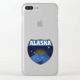 Alaska Badge Clear iPhone Case