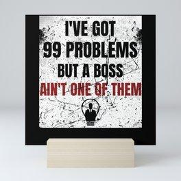 Entrepreneur Funny Saying Business Owner Mini Art Print