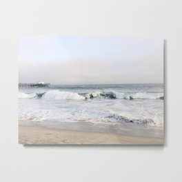 Crashing waves & hazy skies Metal Print