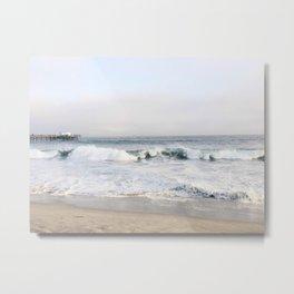 Crashing waves & hazy skies Metal Print