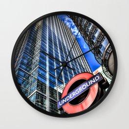 Canary Wharf  London Wall Clock
