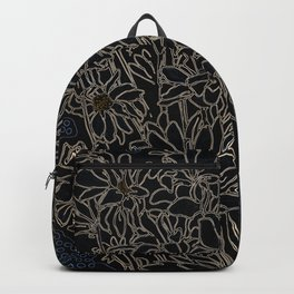 Daisy Chrysanthemum,  black Backpack
