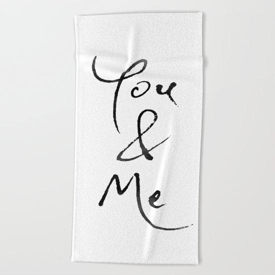 You & Me Beach Towel