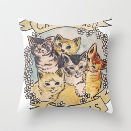 CATS AGAINST CAT CALLS Shirt Throw Pillow