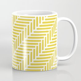 Herringbone 45 Yellow Coffee Mug