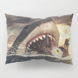 Bruce vs. Bruce / Jaws Pillow Sham