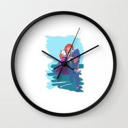 hiei and malon Wall Clock