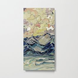 Sunrise, Surf, and Ridgelines Metal Print