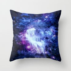 Magical Waterfall Throw Pillow