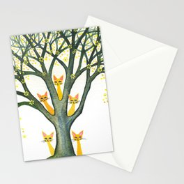 Odessa Whimsical Cats in Tree Stationery Cards