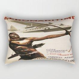 Vintage poster - Aeromaritime Rectangular Pillow