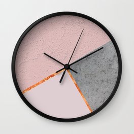 BLUSH GRAY COPPER GEOMETRICAL Wall Clock