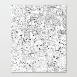 Les Chiens Canvas Print