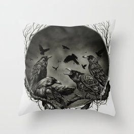 Corvidae Throw Pillow