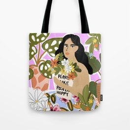 Plants Make People Happy Tote Bag