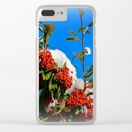 Snow Berries Clear iPhone Case