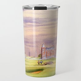 St Andrews Golf Course Scotland 17th Green Travel Mug
