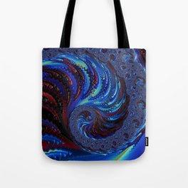 Blue Spiral Tote Bag
