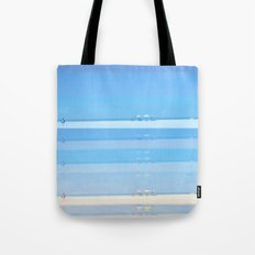 Grey beach_blue edition Tote Bag