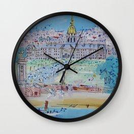 Jean Dufy L'Hotel des Invalides  Wall Clock