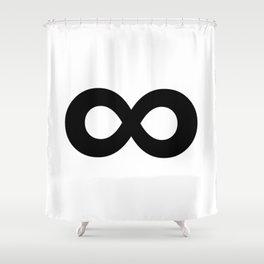 Infinity Symbol (Black & White) Shower Curtain