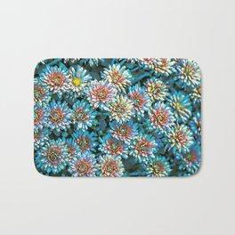 Van Gogh Blue Chrysanthemum Bath Mat