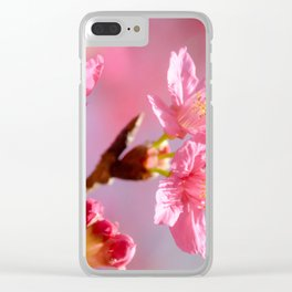 Plum Blossom 2 Clear iPhone Case